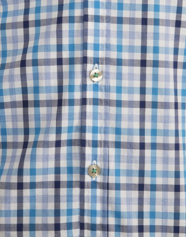 Camisa cuadros marino/celeste