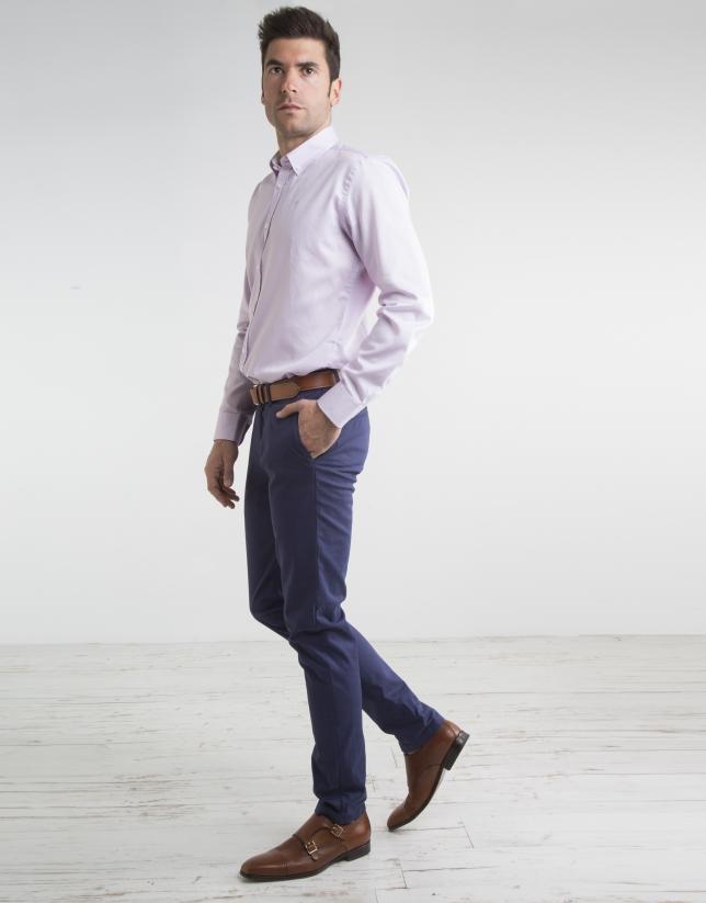 Pantalón chino de algodón marino