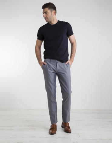 Navy blue wool/cotton chino pants