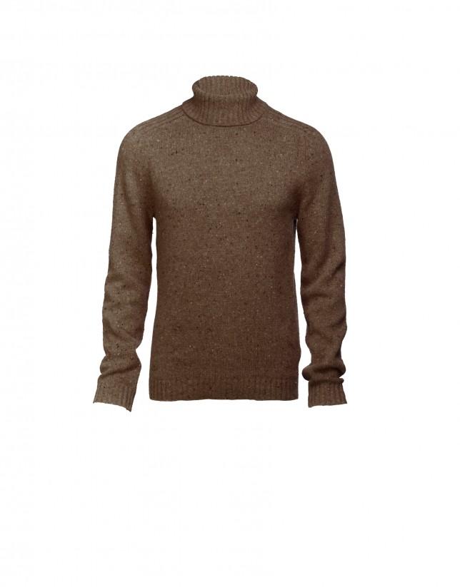 Brown wool/alpaca pullover