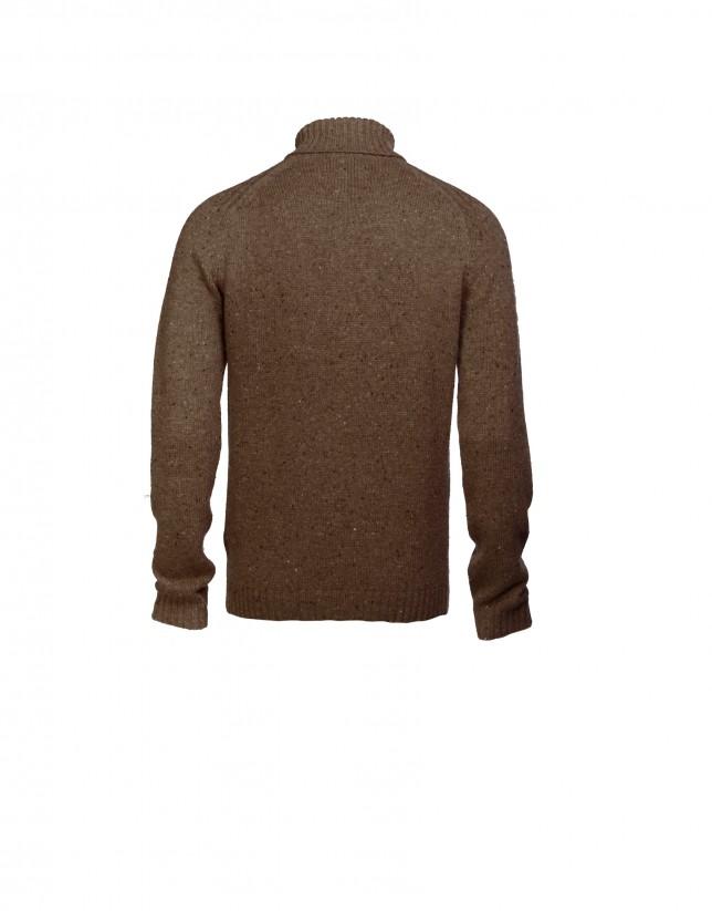 Jersey lana, alpaca marrón