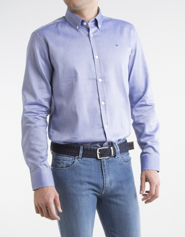 Navy blue oxford shirt