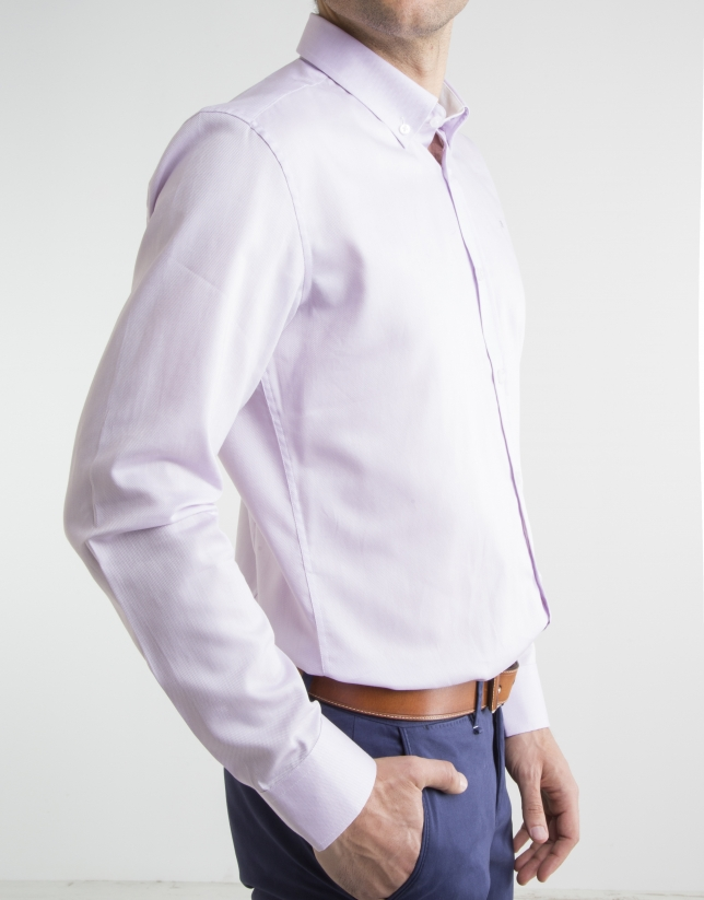 Camisa oxford algodón rosa