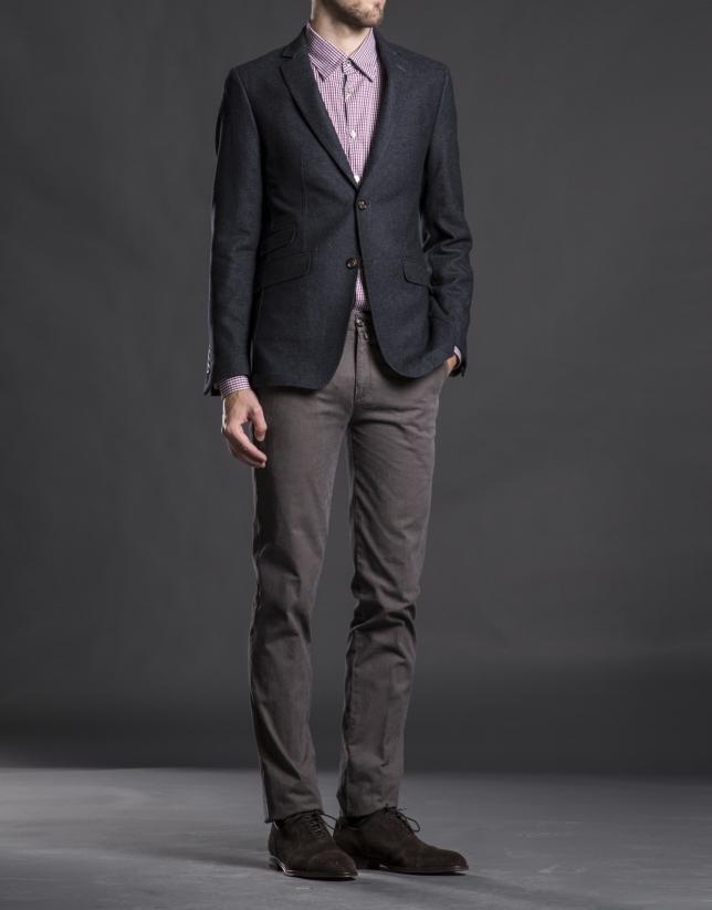 Gray micro-print jacket
