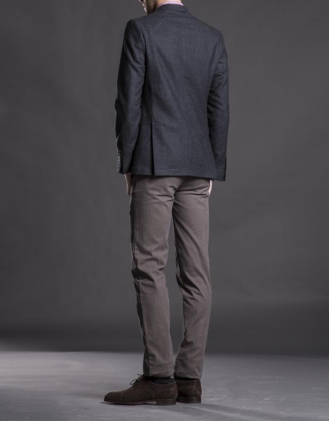 Veste à micromotif gris