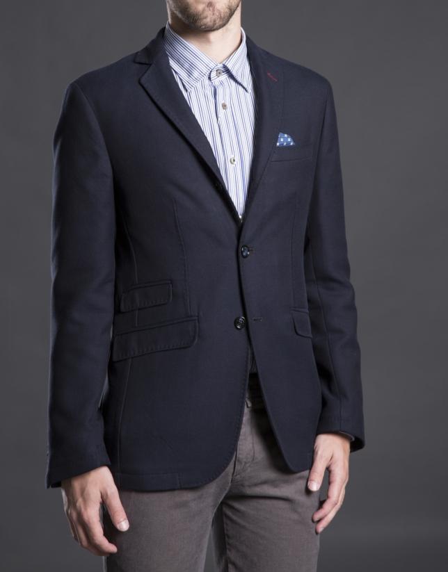 Blue twill jacket