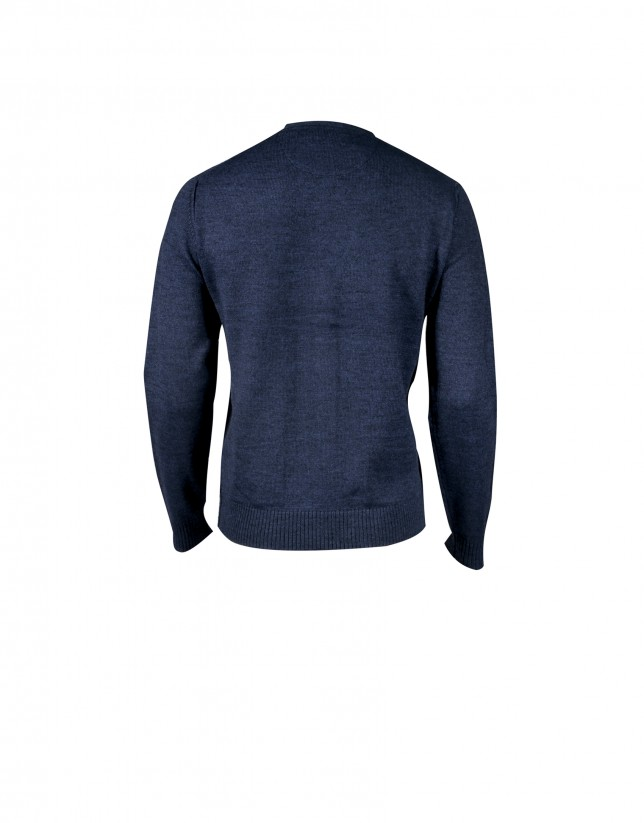 Cárdigan lana azul