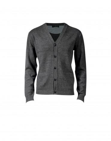 Cárdigan lana gris