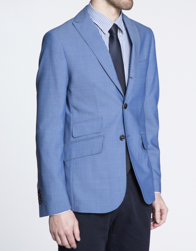 Blue microprint jacket