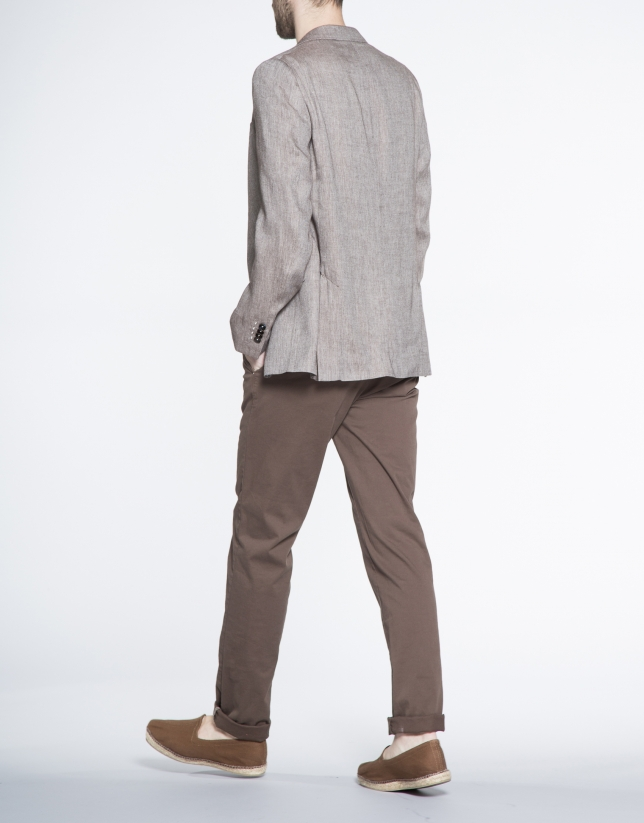 Brown microprint jacket
