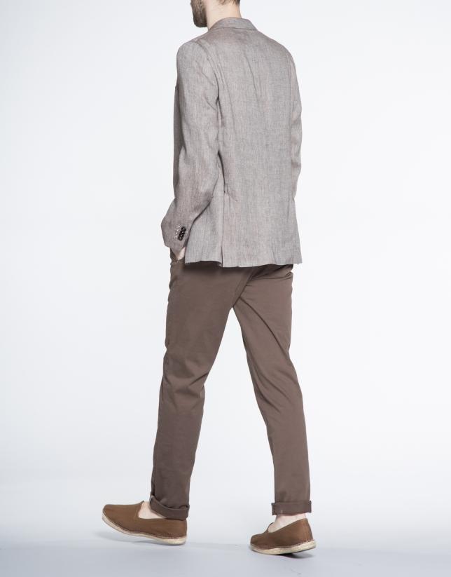 Veste marron à micro-motifs