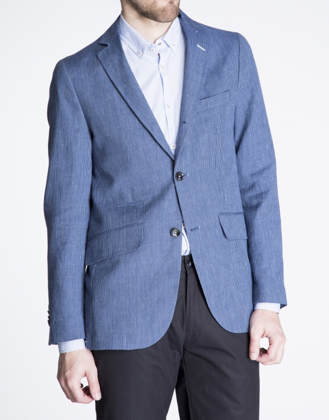 Blue pinstripe jacket