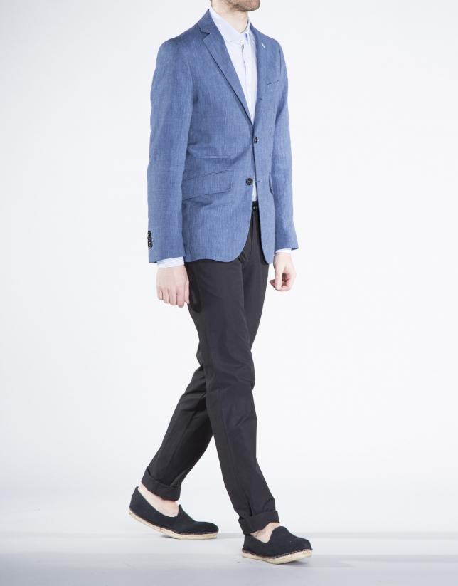 Blue pinstripe jacket