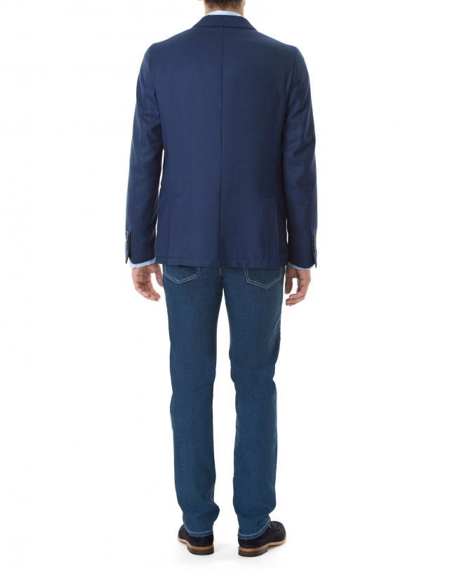 Dark blue microprint sport jacket