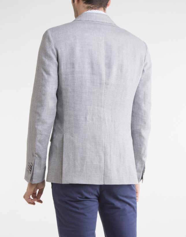 Americana lino/algodón microdibujo arena