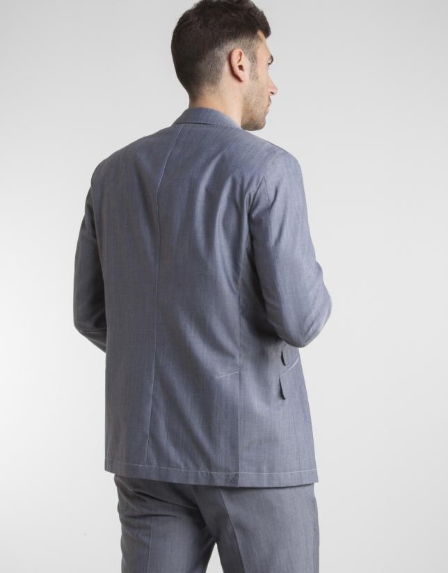 Navy blue wool/cotton sport coat