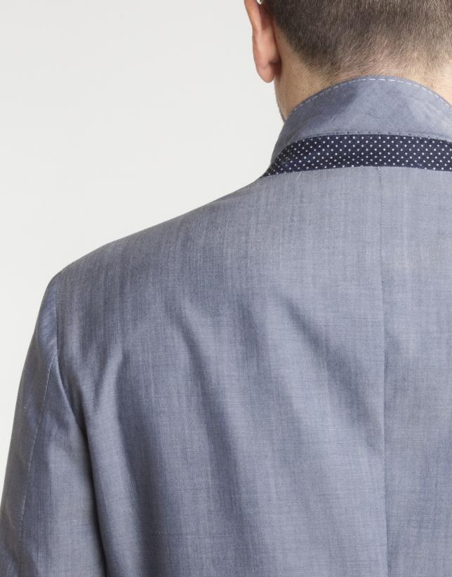Americana algodón/lana marino