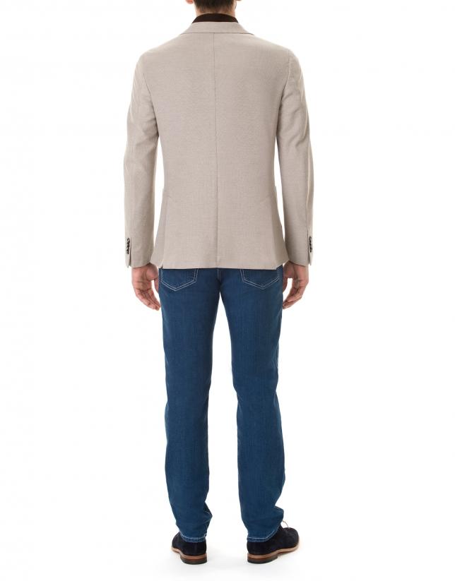 Beige structured sport jacket