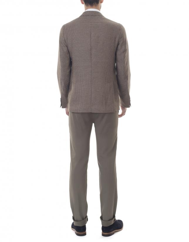 Brown microprint sport jacket