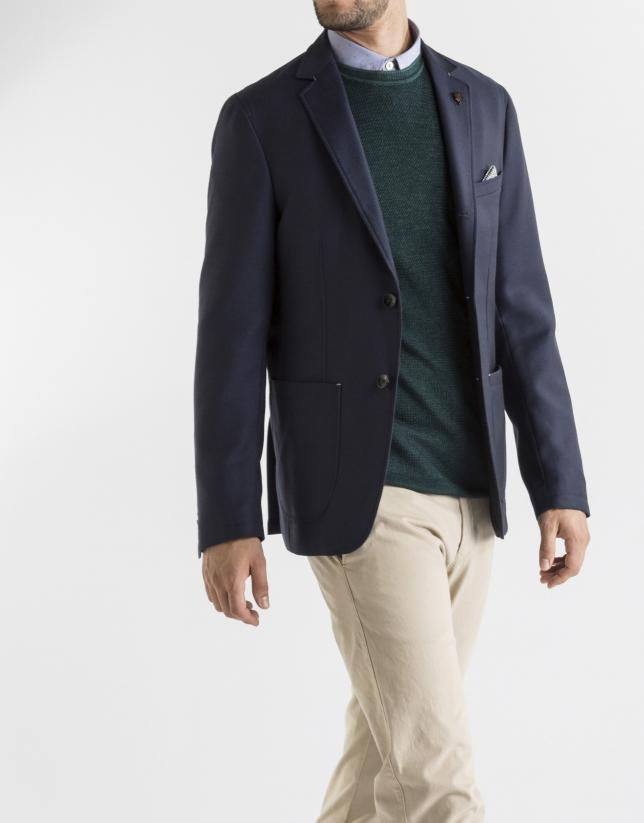 Navy blue structured sport jacket