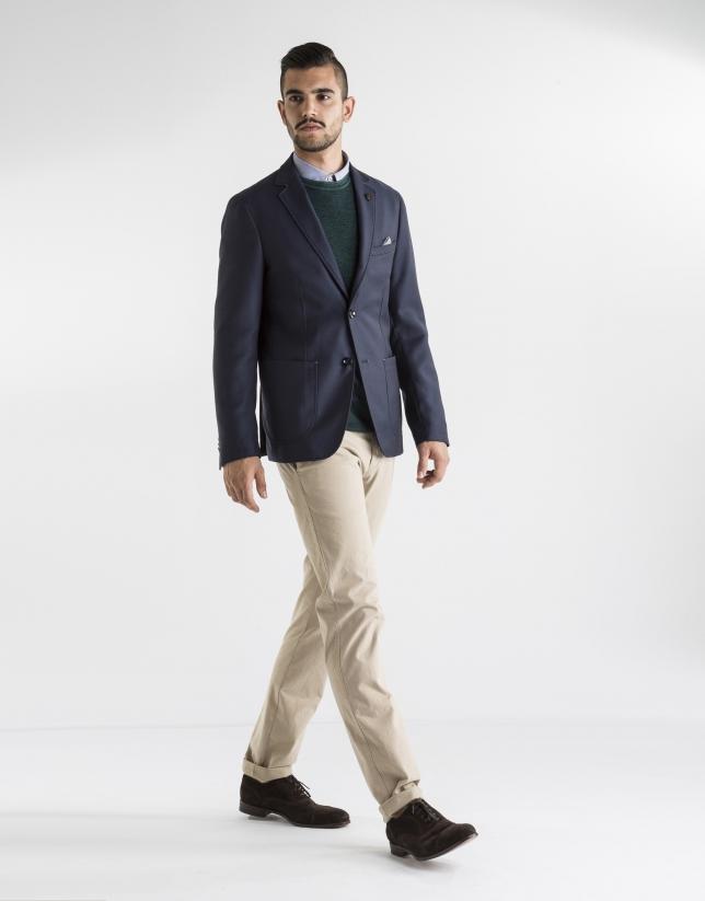 Navy blue structured sport jacket - Man | Roberto Verino