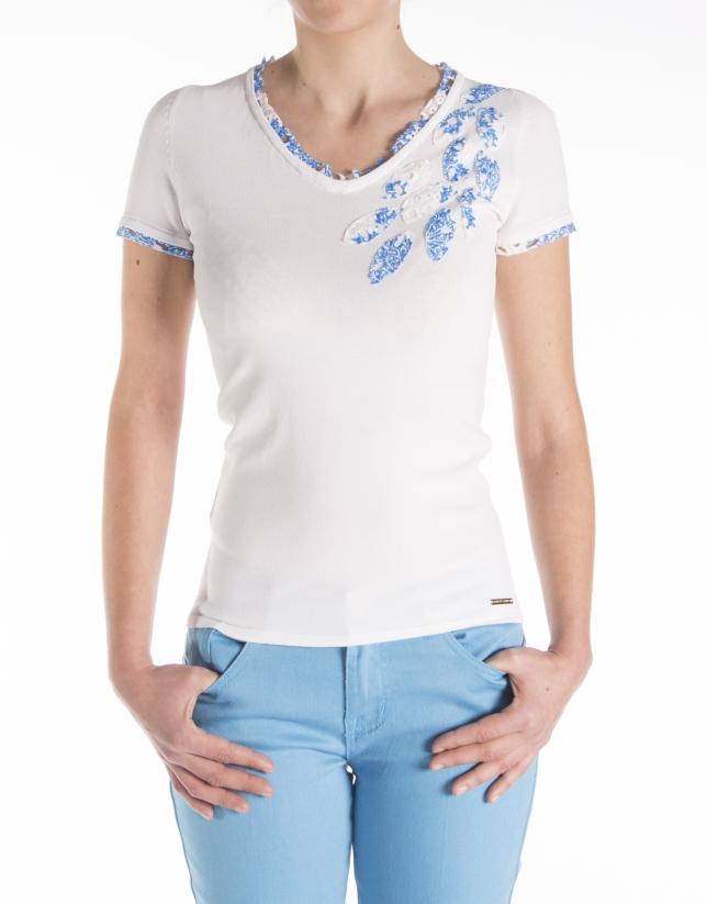 Camiseta bordado manga corta