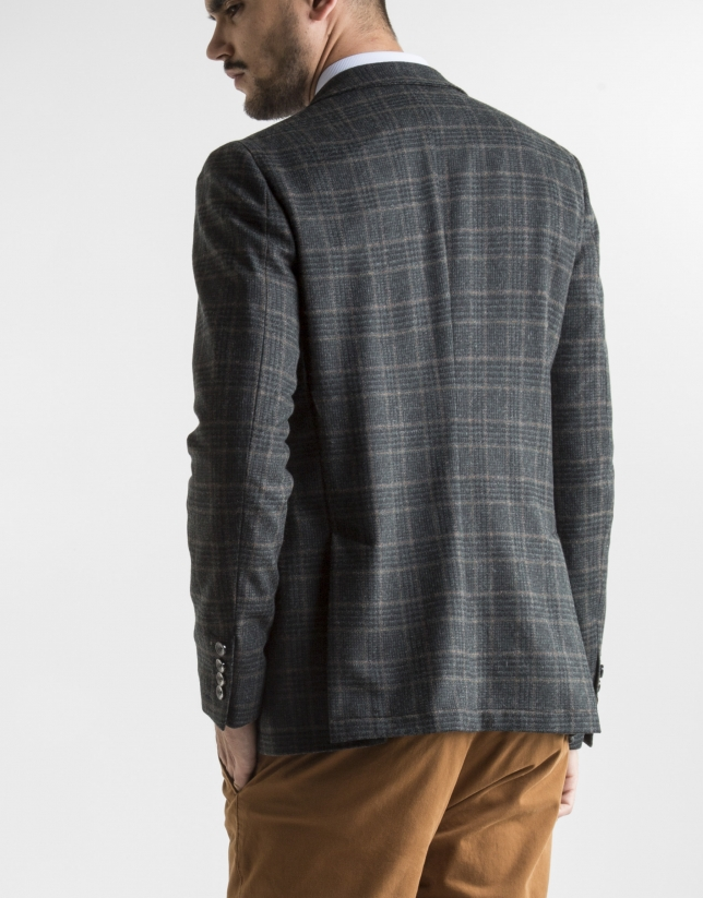 Green checked sport jacket