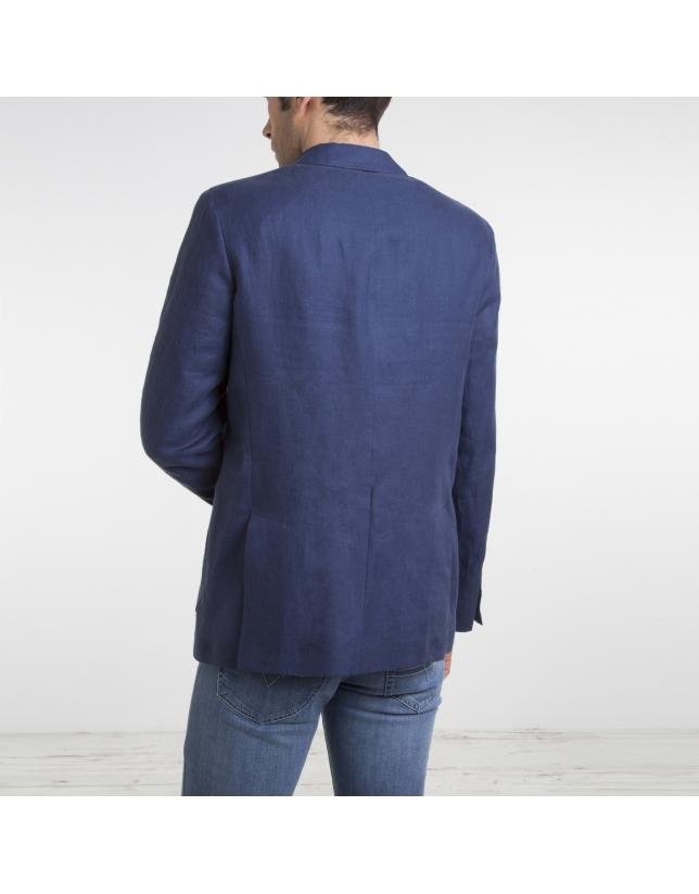 Veste en lin/coton bleu marine
