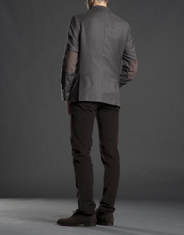 Veste pied-de-poule gris