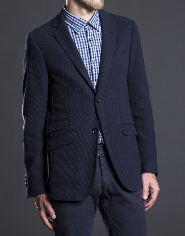 Blue structured jacket