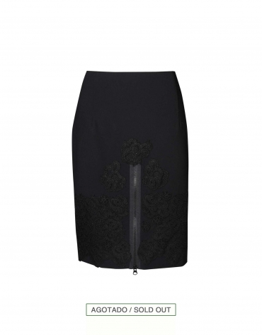 Black straight skirt