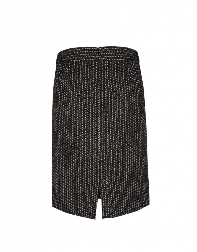Black skirt with gold stripe