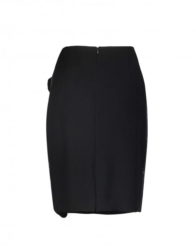 Straight skirt vertical ruffle