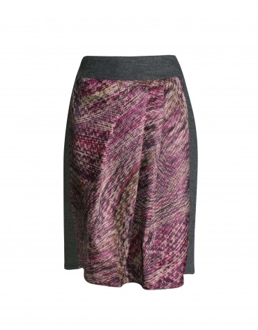 Jacquard short skirt bordeaux