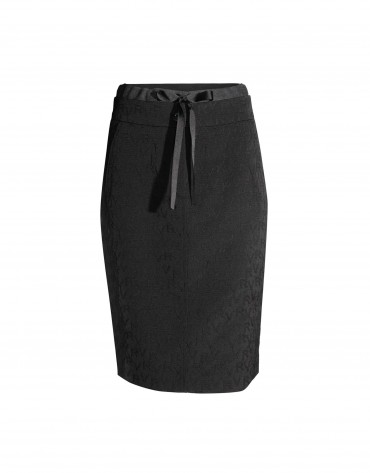 Black brocade skirt