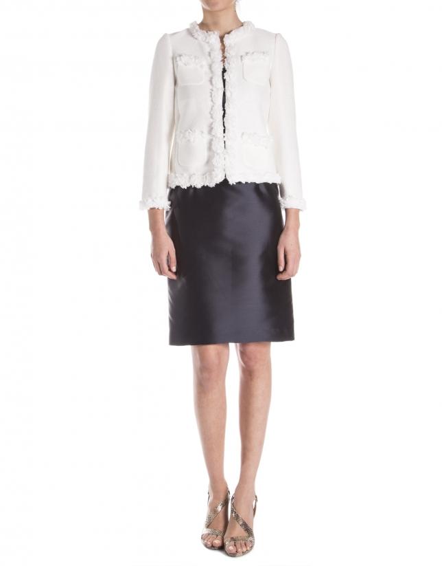 Off white raffia jacket