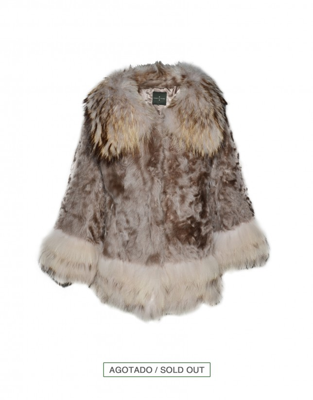 Beige lamb-fur jacket