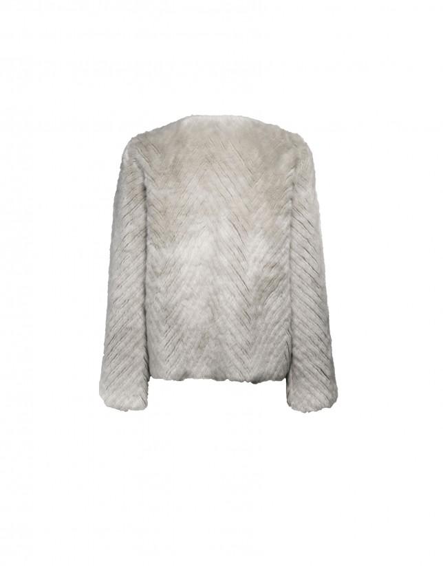 Reversible round neck jacket