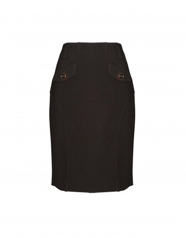 Brown skirt with pockets