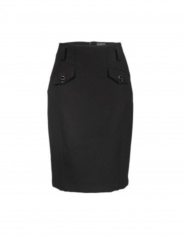 Black skirt pockets