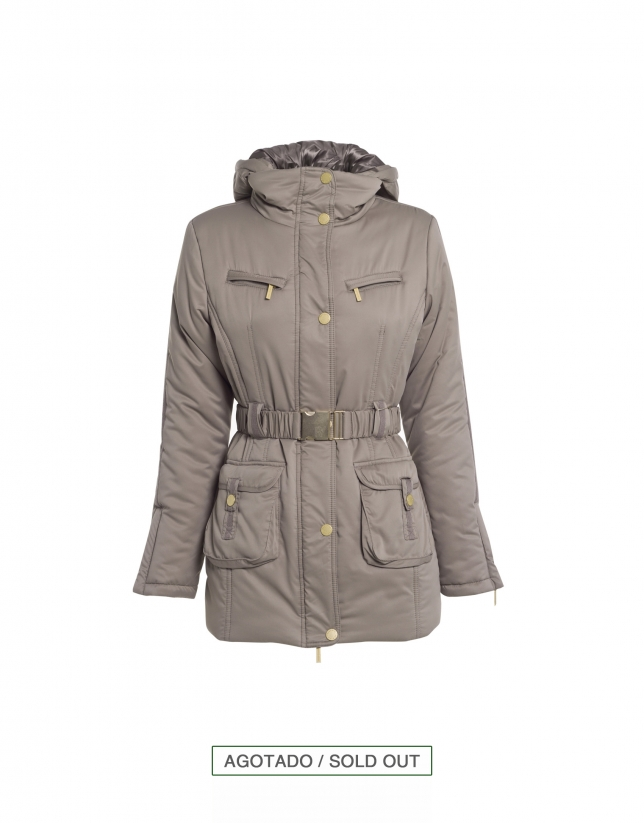 Trench doble cuello beige