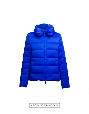 Blue short parka