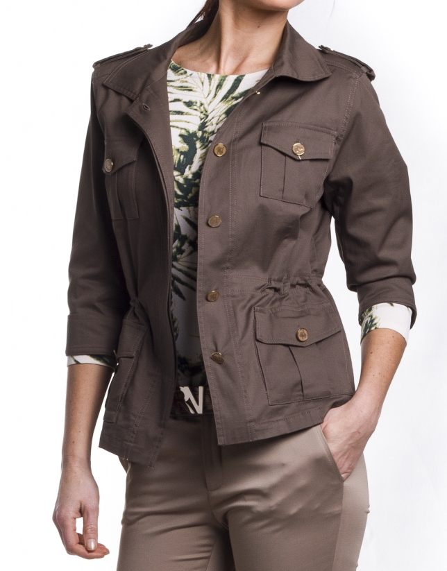 Shirt collar parka
