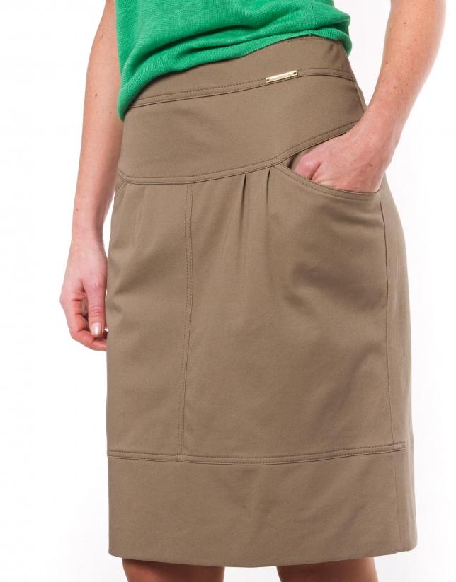 Falda algodón  doble cinturilla