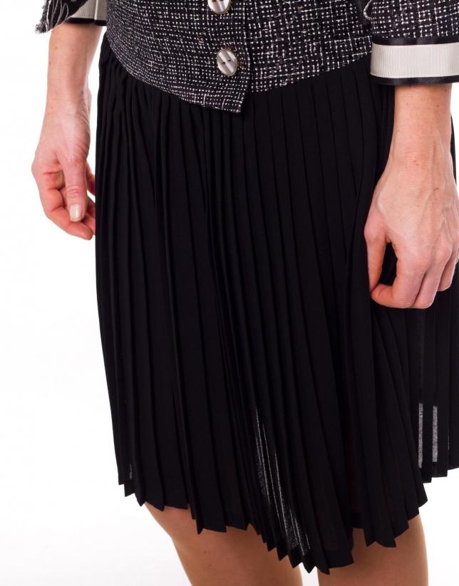 Jupe plissée canezou à motifs