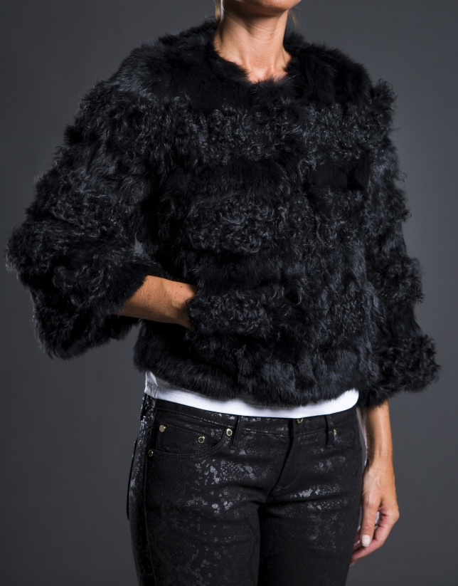 Lamb - rabbit skin jacket