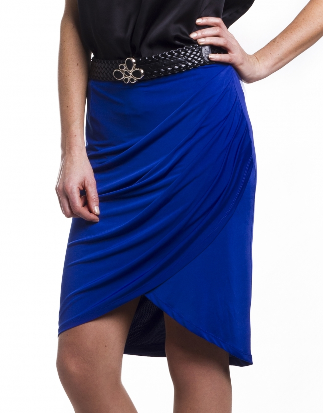 Skirt  with draped front