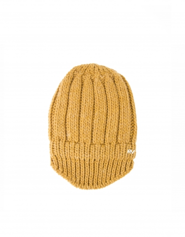 Mustard knit cap with visor