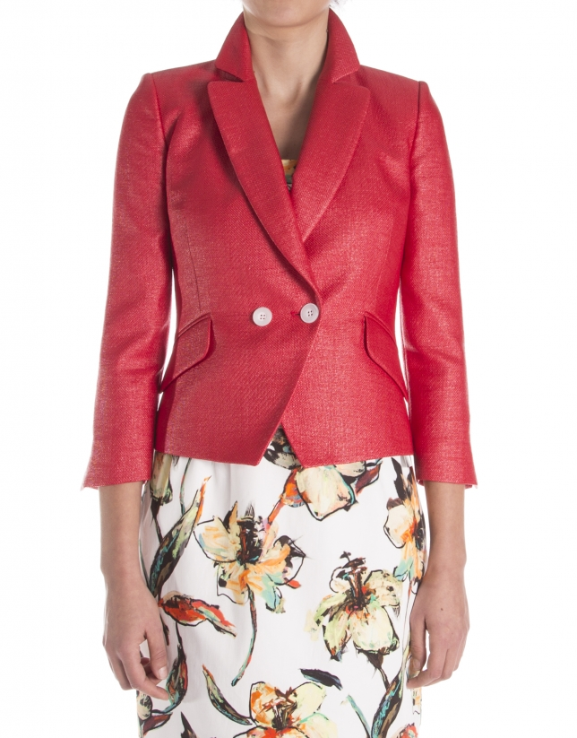 veste courte rouge manteaux et vestes femme roberto. Black Bedroom Furniture Sets. Home Design Ideas