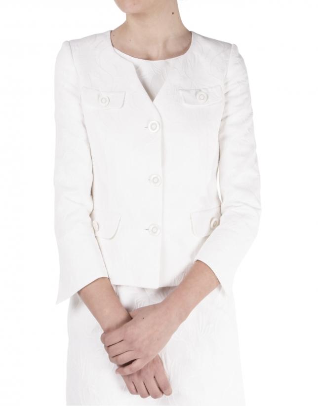 Off white short jacket